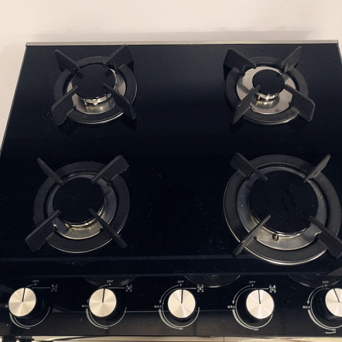 20 inch Gas Cooktop Tempered Glass with 4 Burners