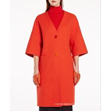 17PKCSC014 women double layer 100% cashmere wool coat