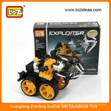 LOZ train enlighten brick plastic assembly toys