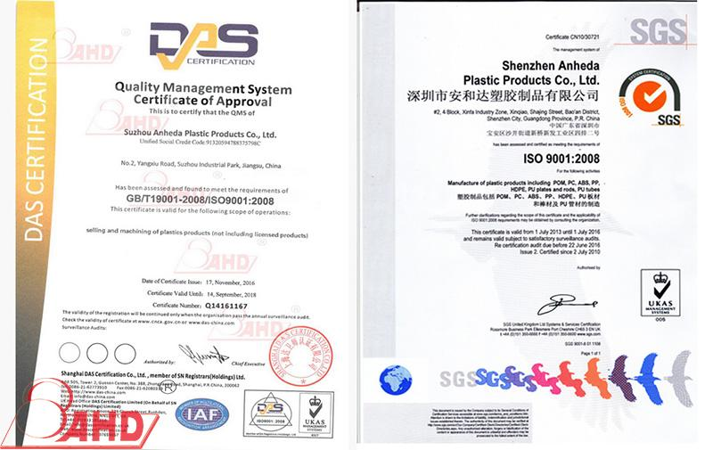 Nylon 6 sheet certifications