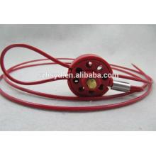 Bloqueo del cable de aislamiento de seguridad brady loto