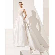 Shoulders Tulle Satin Wedding Dress