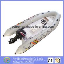 Barco de pesca caliente de la costilla de la fibra de vidrio del Ce de la venta, barco de Mortor