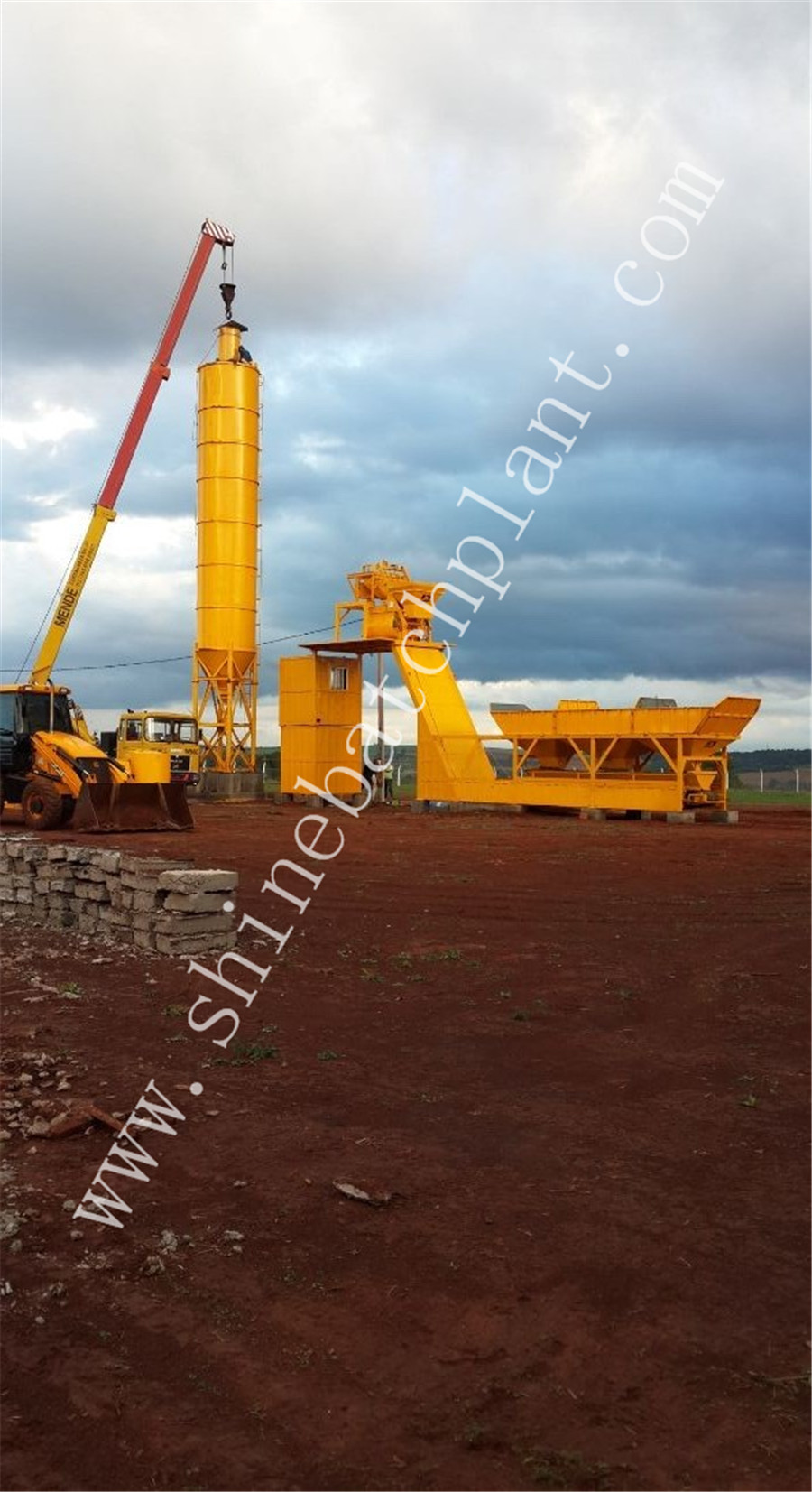 25 Winter Concrete Batching Plant Without Mixer