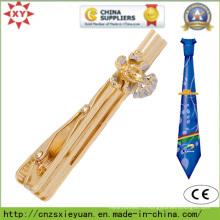Cravate en métal en or personnalisée pour hommes