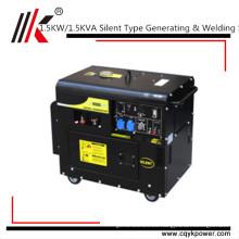silent portable diesel welding generator/230v generator diesel silent small welder welder generator alternator