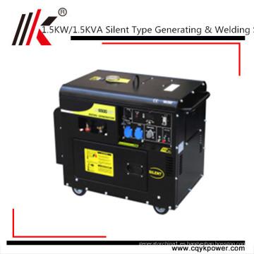 Generador diesel portátil de la soldadora para la máquina de soldadura del generador de Filipinas 1.5KW de la venta