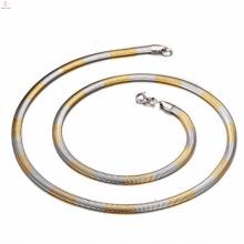 Chaîne de serpent d'acier inoxydable d'argent et d'or de l'acier inoxydable 316 pour faire des bijoux