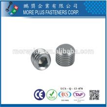 Taiwan No Screw Grund Screw Gewindestif Kegelkuppe DIN913 ISO4026 avec Tuyau Point Plain Souris Hexagon Petits Vis Set