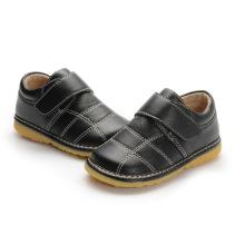 Schwarze Baby-echtes Leder Innere Schuhe 1-2-3y