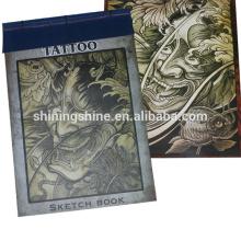 Libro barato barato del diseño del tatuaje de la venta al por mayor en zhejiang, comercialización del libro