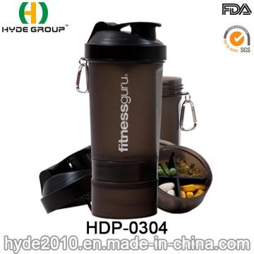 600ml BPA livre proteína plástico inteligente Shaker garrafa (HDP-0304)