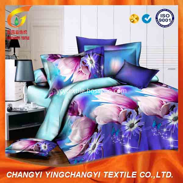100%cotton print bed sheet fabric