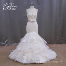 Champagne Strapless Wedding Dress New Fashion