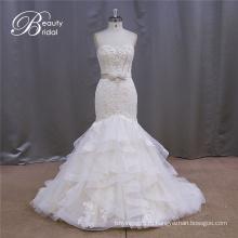 Тонкий Свадебные Платья Милая Декольте Бисера