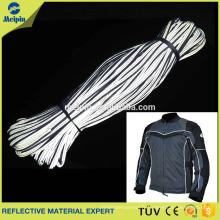 Tuyauterie argentée de tissu réfléchissant pour l'habillement / chaussures / uniforme