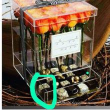 Boîte à fleurs en acrylique avec tiroir en plexiglass Box PMMA Box
