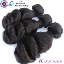 Ursprüngliches loses Wellen-Häutchen Haiyi richtete 100 unverarbeitete peruanische Haar-Erweiterungs-Mensch aus