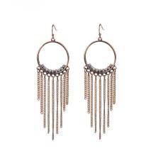 Boucles d'oreilles en cristal de perles en or