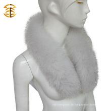 Großhandel natürlichen blauen Fox Pelz Kragen abnehmbare echte Pelz Halsbänder