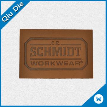 Индивидуальный логотип с эмбоссированным логотипом для ярлыка рабочей одежды