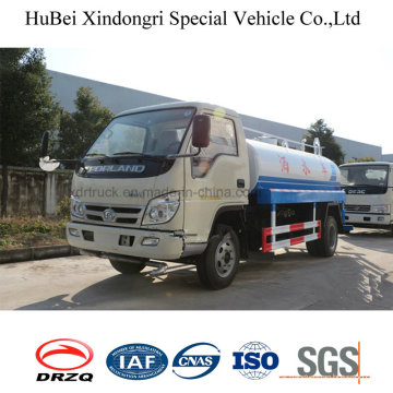 5cbm Foton Special Street Sprinkler Truck for Road Cleaning Purpose