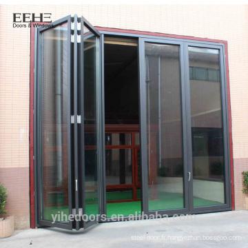 Conception de porte de cuisine turque en verre bifold