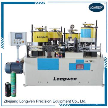 Máquina para fabricação de latas de aerossol em spray Linha de produção Máquina combinada para crimpagem e friso com flange