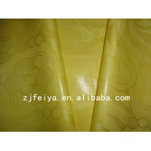 New Arrival Yellow Guinea Brocade Super Bazin Riche West African Garment Fabric Soft 100% Cotton Material High Quality