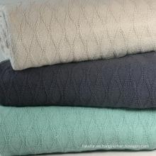 100% algodón rombos tejido manta CB-1403