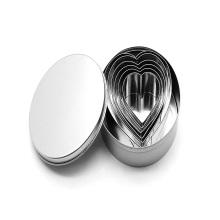 Ensemble de 6 emporte-pièces en forme de cœur en acier inoxydable