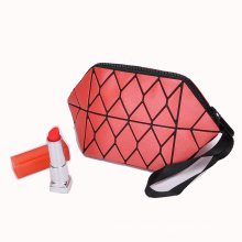 Geometric Diamond Lattice Small Cosmetic Bag Fashion ladies bags 2020 Clutch Makeup Bag