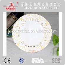 Porcelana de porcelana de porcelana de hueso de porcelana fina EMBOSSED conjunto de vajilla de flor de oro