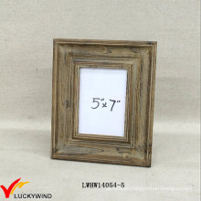 Free Stand 5X7 Antique Solid Wood Brown Picture Frame