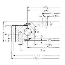 Rothe Erde External Gear Flanged Slewing Ring Bearings (231.21.0975.013)