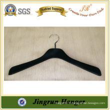 Fourniture expérimentée Black Plastic Hanger Flocked Hanger for Dress