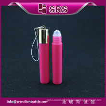 Fasion 7ml travel cylinder plastic lip perfume bottle with high quality