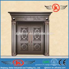 JK-C9024 portes extérieures extérieures anciennes en cuivre porte principale porte battante à double vantail