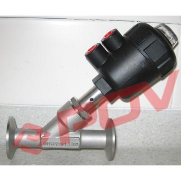 Válvulas de controle pneumáticas válvulas de ângulo sanitárias