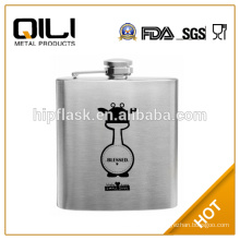 wholesale silk screen logo painted flask