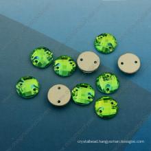 Peridot Round Stones Garment Accessories (DZ-3043)