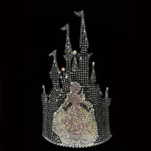 Princess Castle Queen Rhinestone Corona Tiara