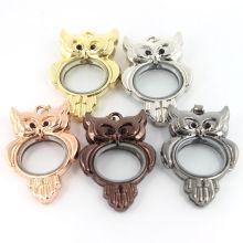 Fashion Jewelry Ornament Custom Owl Shaped Locket Pendant