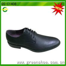 2016 heiße verkaufende schwarze PU-Mann-Schuhe