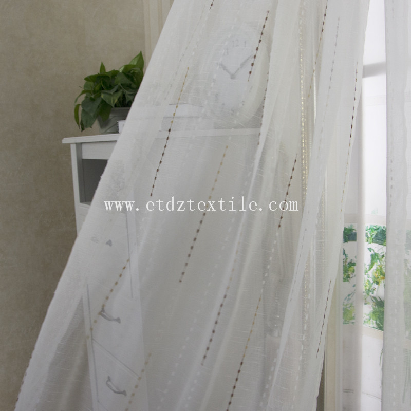Sheer Voile Curtain Fabric