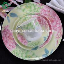 China Factory Custom Sublimation Céramique Wedding Fine China Plate