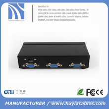 350MHz High Resolution 2port VGA Splitter video Amplified Splitter VGA 1x2 splitter