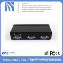 350MHz High Resolution 2port VGA Splitter video Amplified Splitter VGA 1x2 splitter
