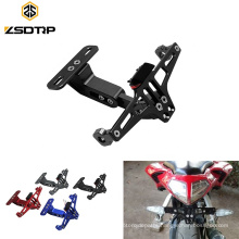 Universal Motorcycle Adjustable Angle Aluminum License Number Plate Frame Holder Bracket For Sport Bike Racing Dirt Pit Bike