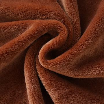 Tejido de lana de coral Velsoft de microfibra de poliéster cálido de marca